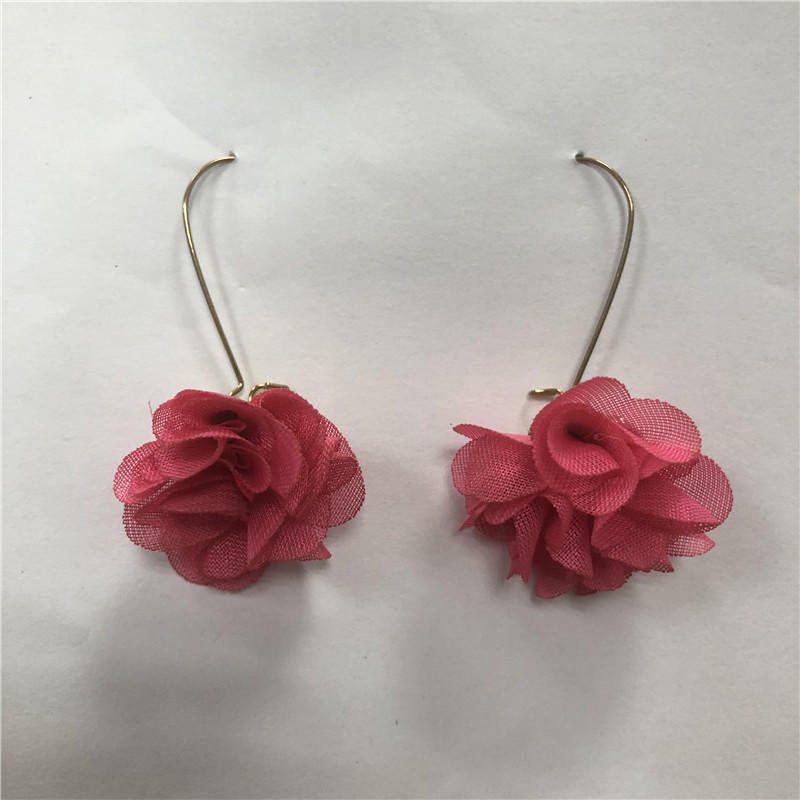 2019 cloth flower ear ring earring, euramerican girl heart exaggerated restoring ancient ways eardrop