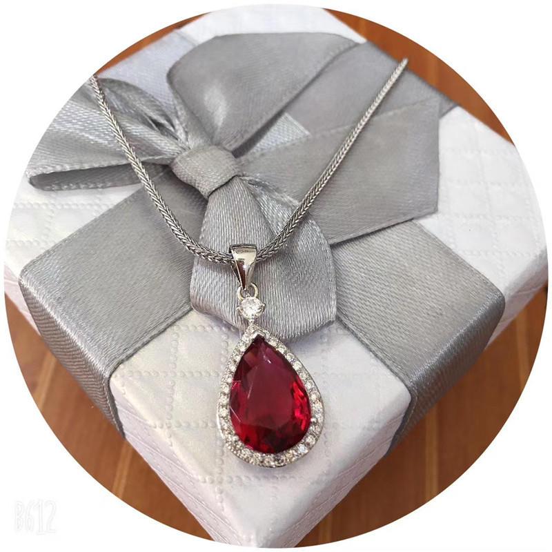 925 genuine tears crystal necklace drop pendant 025