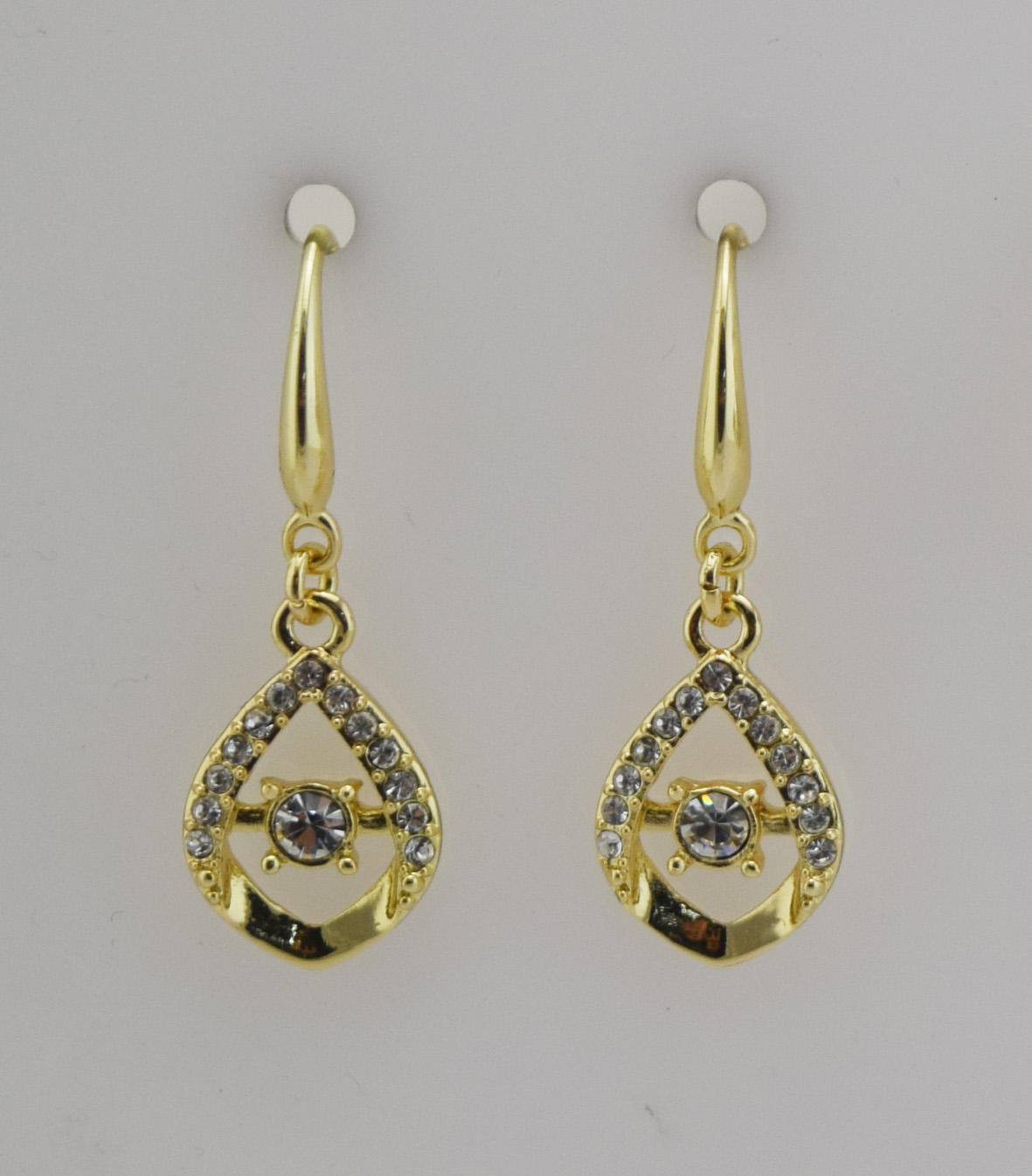 Zinc alloy fishhook earrings