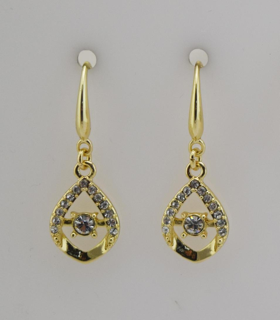 Zinc alloy fishhook earrings