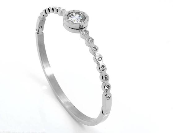 Stainless steel Czech diamond bracelet