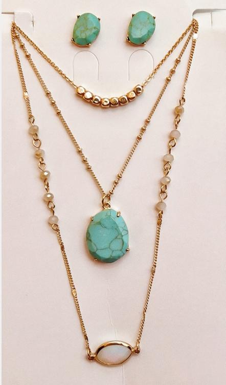 Semi-precious stone set