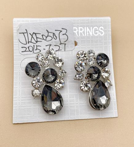 Grey glass earrings