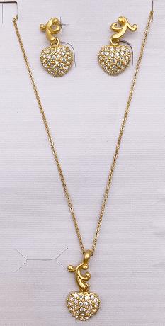Love necklace set earrings