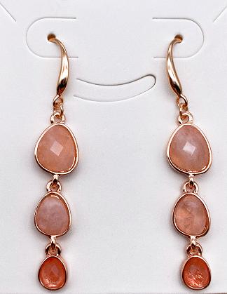 Semi-precious earrings