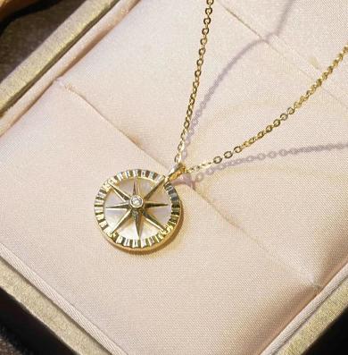 Circle pentagram necklace