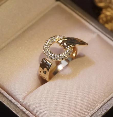 Zinc alloy Czech diamond ring