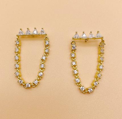 O shape earrings