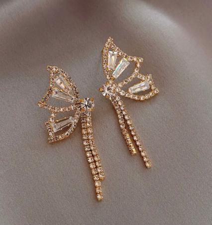 The butterfly earrings