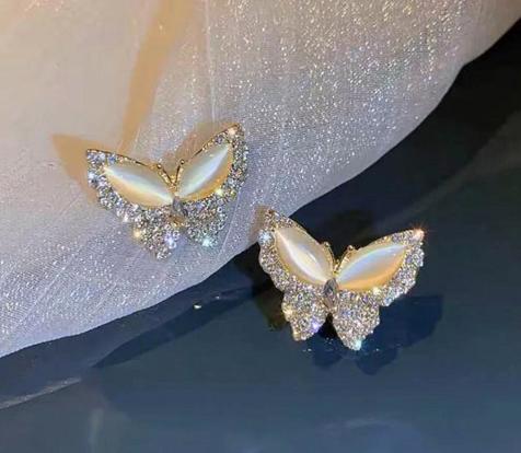 Butterfly earring beads