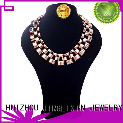 JINGLIXIN swarovski jewelry necklaces laser engraving for guys