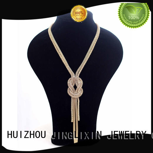 JINGLIXIN crystal semi-precious stones necklace stone for party