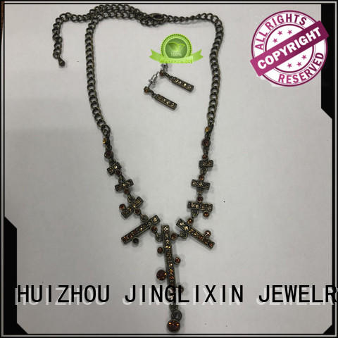 JINGLIXIN Latest fashion jewelry sets Supply for party