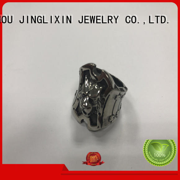wholesale fashion rings laser engraving for present JINGLIXIN