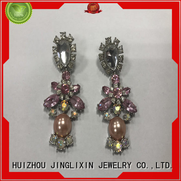 JINGLIXIN alloy fashion jewelry earrings odm service for present