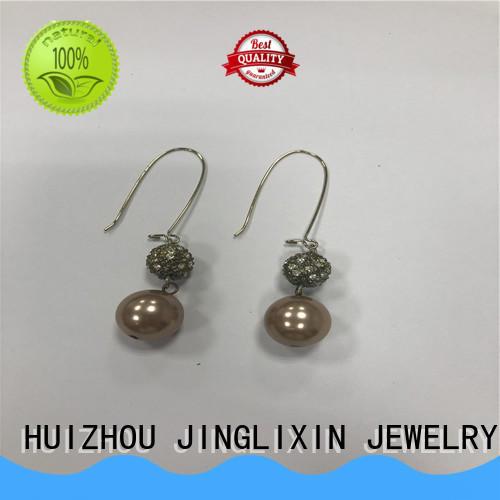JINGLIXIN alloy silver drop earrings for ladies